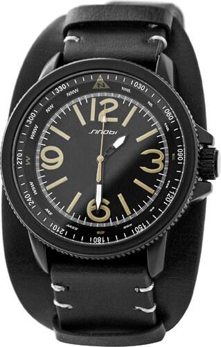 Sinobi Černé hodinky s žluto-šedými detaily - Glami.cz 8786d7bb742