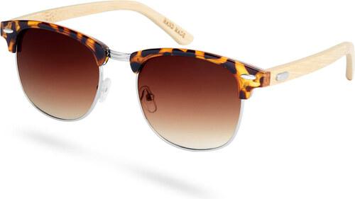 Paul Riley Gradientné hnedé korytnačie slnečné okuliare s drevenými  nožičkami fa5d9e07ca4