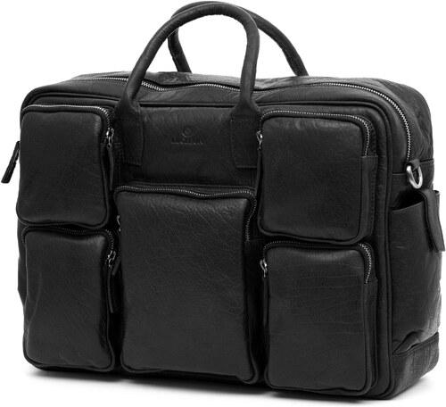 08081c6fb Lucleon Montreal Safari čierna kožená cestovná taška - Glami.sk