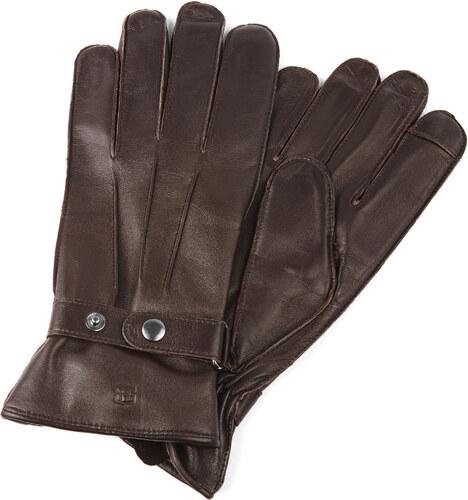 c6c89f0c854 Salt   Hide Hnědé kožené rukavice s páskem - Glami.cz