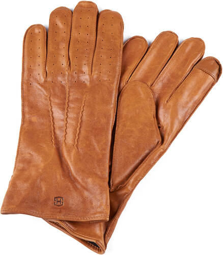 4d70907dc34 Salt   Hide Světle hnědé perforované kožené rukavice - Glami.cz