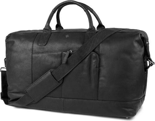 e51e22db9bf0 Lucleon Oxford Classic fekete bőr sporttáska - Glami.hu