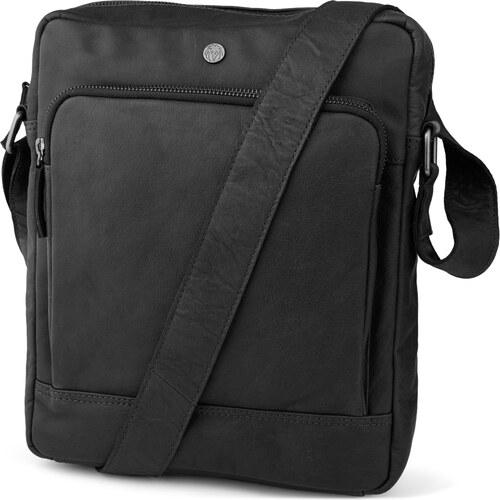 Lucleon Čierna klasická mestská taška z pravej kože Oxford - Glami.sk 7fafd43f1ad