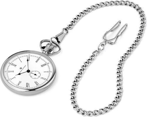 14c257dd2 Dane Dapper Kapesní hodinky ve stříbrných tónech s bílým číselníkem Time  Keeper