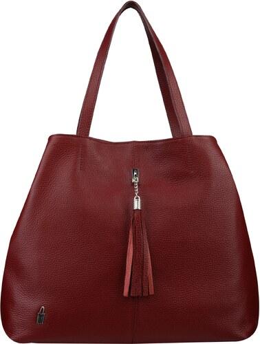 aa284db7f1 Wojewodzic kožená kabelka luxusná cez plece bordová 31608… - Glami.sk