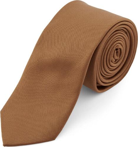 5abb4b022c TND Basics Világosbarna egyszerű nyakkendő - 6 cm - Glami.hu