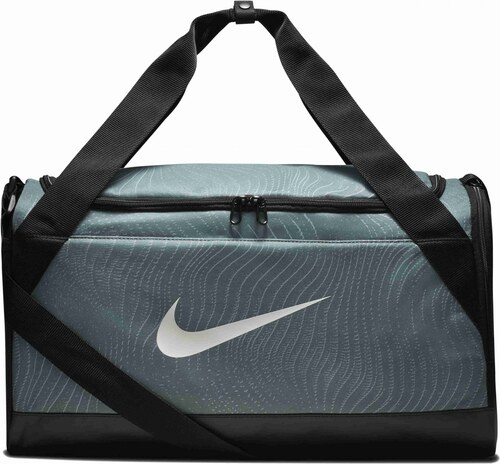 -37% Unisex Taška Nike NK BRSLA S DUFF - AOP CLAY GREEN BLACK WHITE e8be1b99919