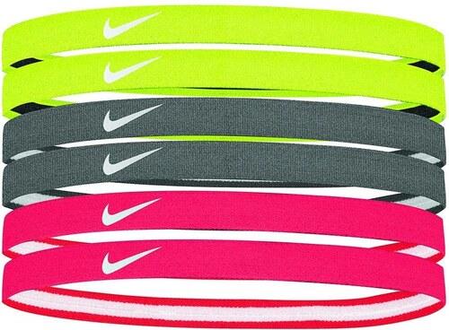 059fe0fcbf3 Čelenka Nike SWOOSH SPORT HEADBANDS 6PK 2.0 NJND6728OS-728 - Glami.cz