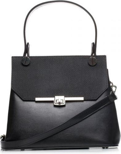 StyleBags Čierna elegantná kabelka s kovovým zapínaním SB286 - Glami.sk b3bf0fe4635