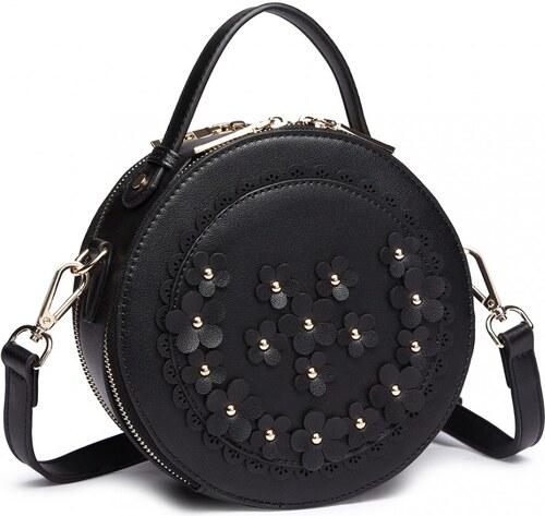 0031b748e0 -10% Lulu Bags Černá kulatá moderní dámská crossbody kabelka Jandern