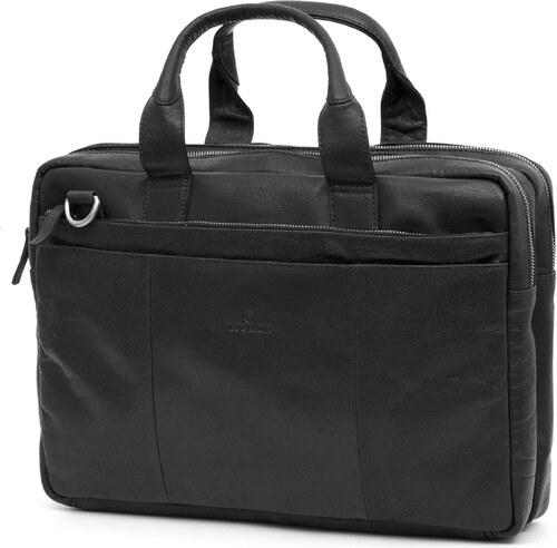ce1bf7156 Lucleon Montreal čierna kožená taška na notebook - Glami.sk