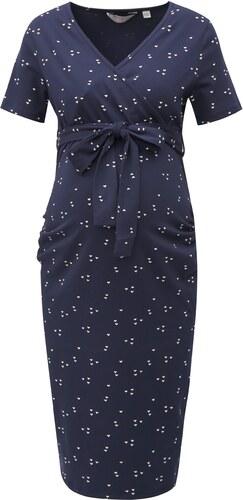 4b172c4fdb47 Tmavomodré vzorované tehotenské šaty Dorothy Perkins Maternity ...