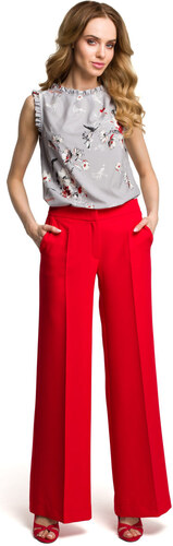 24874f15f31 Dámské široké kalhoty MOE 378 červené - Glami.cz