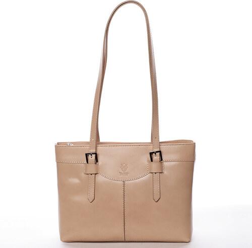 Delami Vera Pelle Elegantní kožená dámská kabelka Gina a348ab5cb87