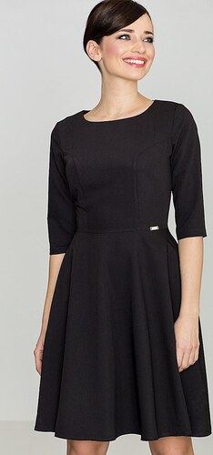86201d1dfe43 LENITIF Dámske čierne šaty K219 - Glami.sk