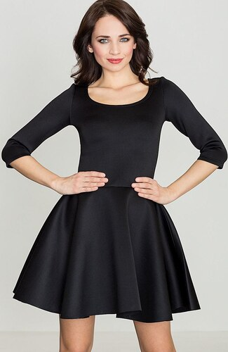 2b00e23c7c8b LENITIF Dámske čierne šaty K227 - Glami.sk