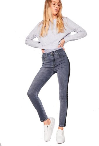 MISSY EMPIRE Skinny džíny s bočními lampasy - Glami.cz ed8b99b673