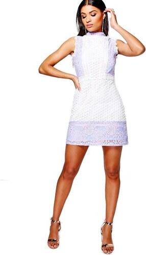 BOOHOO Mol slonovinová biele šaty z kombinovanej čipky - Glami.sk 4f601e5632f