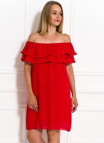 c35b5149017a Glamorous by Glam Dámske letné šaty s volánom červené - Glami.sk