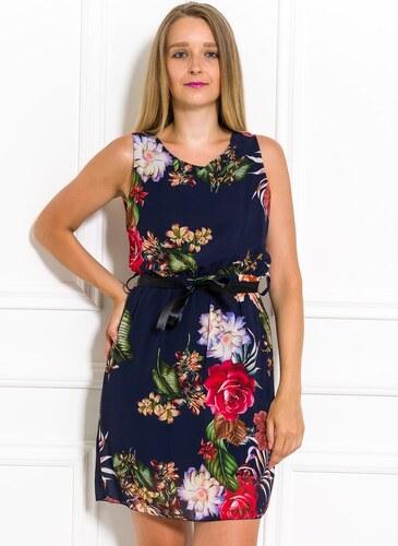 655aa2349e3d Glamorous by Glam Letní šifonové šaty s květinami tmavě modré - Glami.cz