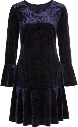 Bonprix Zamatové šaty s volánmi - Glami.sk 9a04f25f352