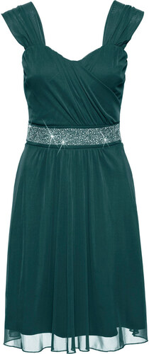 Bonprix Koktejlové šaty zo sieťoviny a džerseju - Glami.sk 6f6dfb468a