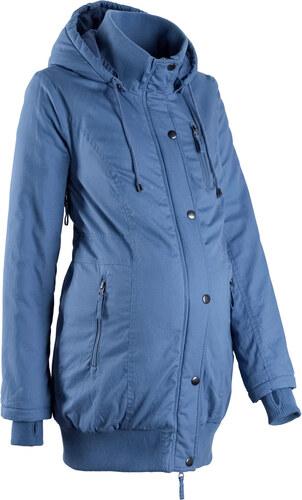 Bonprix Tehotenská bunda s kapucňou a vrúbkovanými patentami - Glami.sk eb57da18334