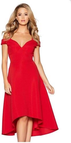 QUIZ Červené šaty v štýle studených ramien - Glami.sk 0b3c5bdd682
