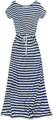 70948cb09ac3 MADE IN ITALY Dlhé letné pásikavé šaty bielo-modré 110 1art - Glami.sk