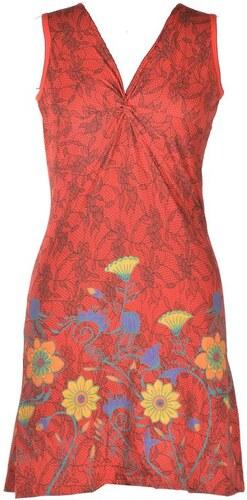 491f5b0289e Krátké červené šaty bez rukávu