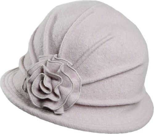 3c9981b6c71 TONAK Šedý dámský vlněný klobouk s květinou Neel 9 - Glami.cz