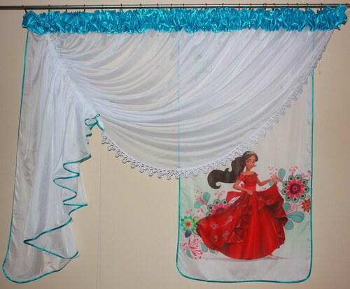 a374f0ad9bcd Voálová Záclona Lily Princezna za Avaloru tyrkysová 400x150cm - Glami.cz
