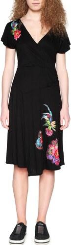 Desigual čierne šaty Asha s farebnými nášivkami - Glami.sk e78ca58076d