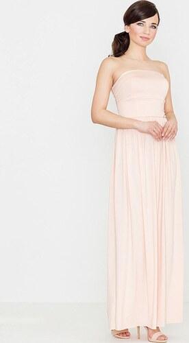 LENITIF Dámske dlhé ružové šaty K252 - Glami.sk 9948e075138