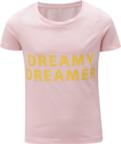 b57cba382525 Ružové dievčenské tričko s potlačou LIMITED by name it Veenkada ...