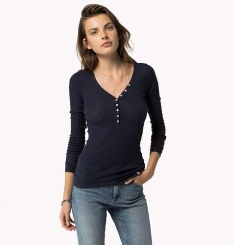 Tommy Hilfiger dámské modré tričko Lola - Glami.cz 07c4714e1c