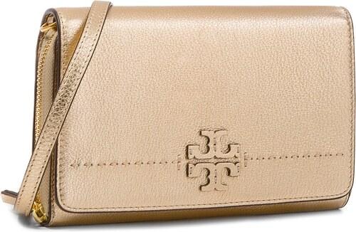 144e6d529f7 Kabelka TORY BURCH - Mcgraw Metallic Flat Wallet 46171 Gold 701 ...