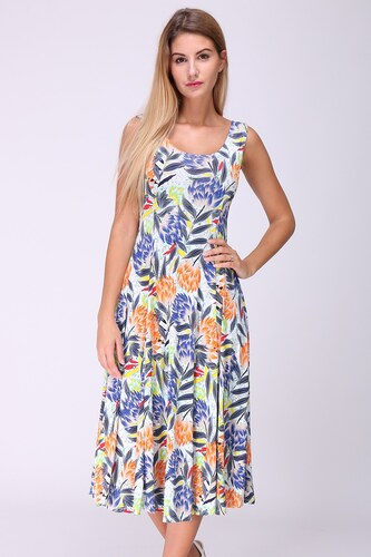 REVDELLE Letní midi šaty JORDANIE barevné - Glami.cz 4d963d37c9