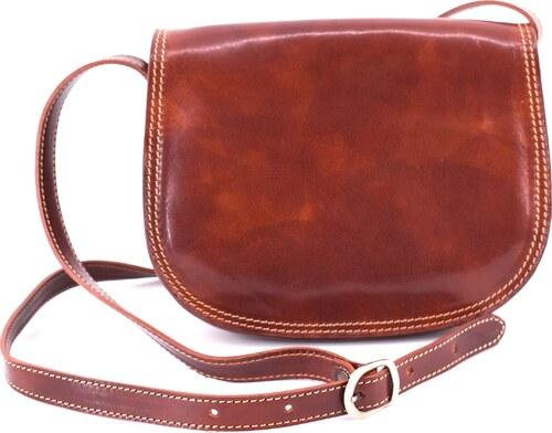 Dámská kožená kabelka crossbody (lovecká) Arteddy - hnědá - Glami.cz 427f6df6805