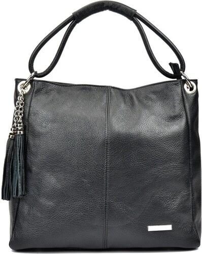 Čierna kožená kabelka Anna Luchini Srumla - Glami.sk 43a84c9a000