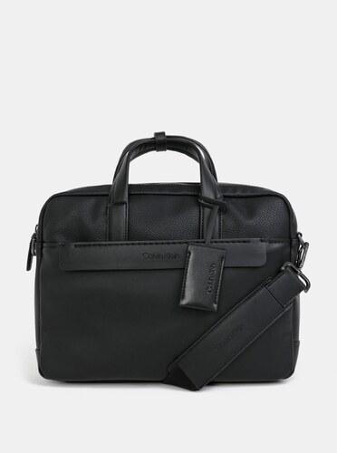 Černá koženková taška na notebook Calvin Klein Jeans 15