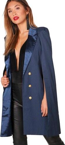 e1f812c5987e BOOHOO Modrá pelerína Rosie v dizajne saka - Glami.sk