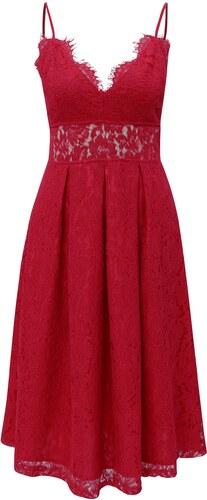 Červené krajkové šaty MISSGUIDED - Glami.cz 711205a709a