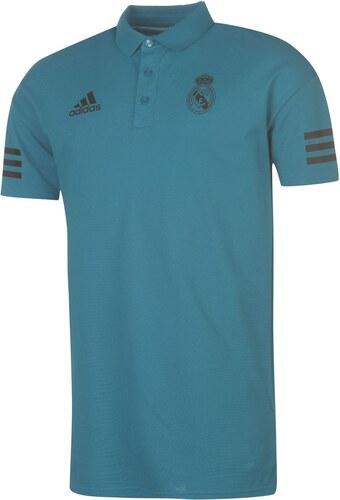 4c7931c810a adidas Real Madrid Polo Shirt Mens Teal Black - Glami.cz