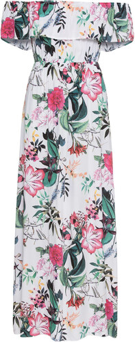 Bonprix Maxi šaty s kvetovanou potlačou - Glami.sk 909a28eb682