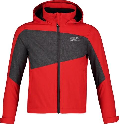 6e86d0e8b89 Nordblanc Červená dětská lehká softshellová bunda HORIZON - NBSSK5722L