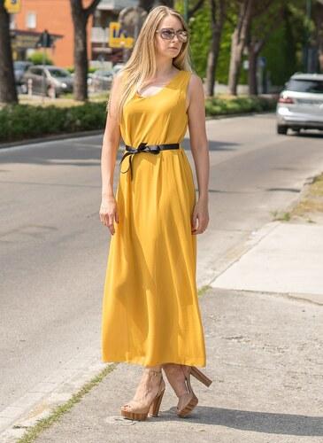Glamorous by Glam Dlhé šaty žlté šifónové - Glami.sk 2587b0a0e8d