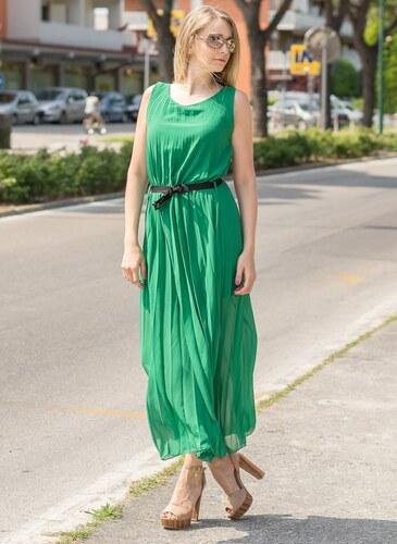 Glamorous by Glam Dlouhé šaty zelené plizované - Glami.cz ac9a98b2b2