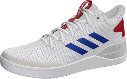 adidas Bball80s, Chaussures de Basketball Homme, Multicolore (Ftwwht/Blue/Scarle B44835), 43 1/3 EU