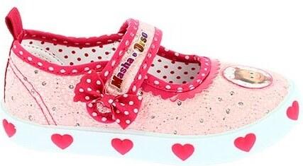 Disney by Arnetta Dievčenské balerínky Máša a Medveď - ružové - Glami.sk eb67cbd7e40